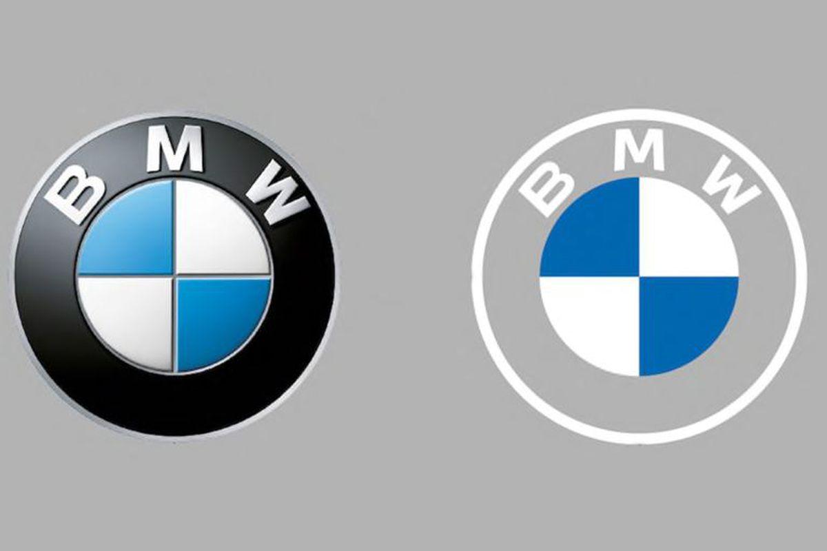 Ancien et nouveau logo de BMW (Wikicommons)